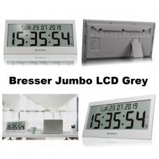 Часы настенные электронные Bresser Jumbo LCD Grey (7001802QT5000)