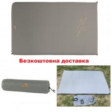 Самонадувающийся коврик Easy Camp Self-inflating Siesta Mat Double 5 cm Grey двухместный
