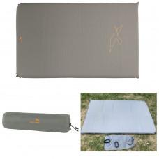 Коврик самонадувающийся Easy Camp Self-inflating Siesta Mat Double 10 cm Grey (300056) двухместный