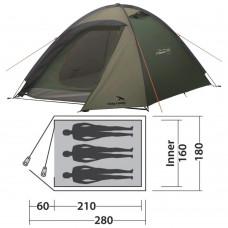 Палатка Easy Camp Meteor 300 Rustic Green (120393) кемпинговая трехместная