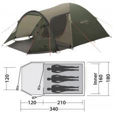 Палатка Easy Camp Blazar 300 Rustic Green (120384) кемпинговая трехместная