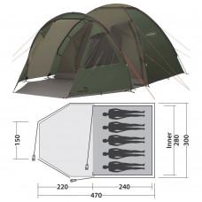 Палатка Easy Camp Eclipse 500 Rustic Green (120387) кемпинговая пятиместная