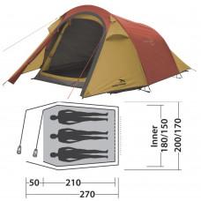 Палатка Easy Camp Energy 300 Gold Red (120352) кемпинговая трехместная