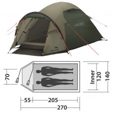 Палатка Easy Camp Quasar 200 Rustic Green (120394)