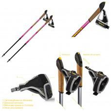 Палки для скандинавской ходьбы Vipole Vario Novice Pink (S2034)