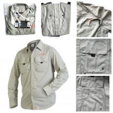 Рубашка Norfin Focus (655002-M) мужская летняя с длинным рукавом размер M (48-50)