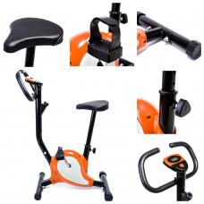 Велотренажер механический для дома Hop-Sport ES-8018 Point Orange