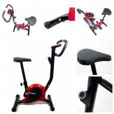 Велотренажер механический для дома Hop-Sport ES-8005 Point Red