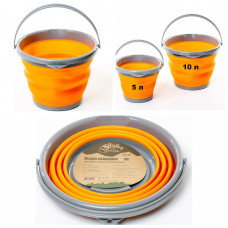 Ведро 10 л Tramp TRC-091 Orange складное силиконовое