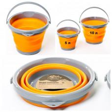 Ведро 5 л Tramp TRC-092 Orange складное силиконовое