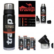Термос 0.9 л Tramp Expedition Line Black (TRC-027), Термос для напитков Трамп 900 мл
