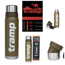Термос 0.9 л Tramp Expedition Line Olive (TRC-027), Термос для напитков Трамп 900 мл