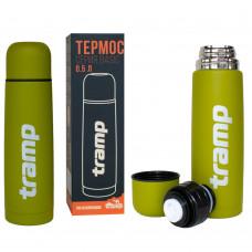 Термос питьевой 0.5 л Tramp Basic Olive (TRC-111), Термос для напитков Трамп 500 мл