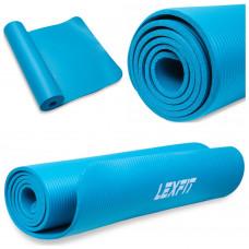 Коврик для йоги и фитнеса USA Style Lexfit LKEM-3006-0,8 (голубой, 180х60х0.8 см, термоэластопласт)