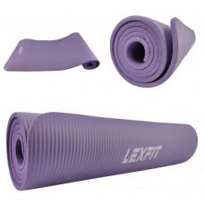 Коврик для йоги и фитнеса USA Style LKEM-3006-1-viol (фиолетовый, 183х61х1 см, каучук)
