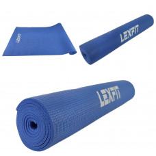 Коврик для йоги и фитнеса USA Style Lexfit LKEM-3010-0,5 см (фиолетовый, 173х61х0.5 см, ПВХ)