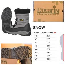 Ботинки зимние универсальные Norfin Snow Gray р.40 (13980-GY-40), Мужские зимние ботинки Норфин Сноу до -20°С