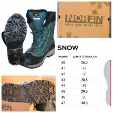 Ботинки зимние универсальные Norfin Snow р.40 (13980-40), Мужские зимние ботинки Норфин Сноу до -20°С