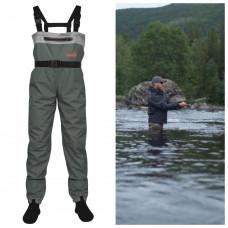 Полукомбинезон забродный (вейдерсы) с неопреновыми носками Norfin Whitewater 2 (91247-04XL) размер XL (56-58)