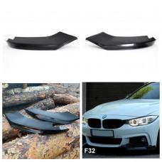Боковые накладки (клыки, элероны) на М бампер BMW 4 F32/F33/F36/F80 стиль M4 черный глянец (43233101)