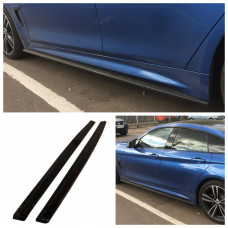 Лезвия под пороги BMW 4 F32/F33/F36 M-Performance стиль M4 АБС пластик (43233401), Накладки под пороги БМВ 4