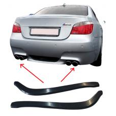 Боковые накладки (диффузоры, сплиттеры, элероны) ЗАДНЕГО бампера BMW 5 E60/E61 M-pack АБС-пластик ПОД ПОКРАСКУ