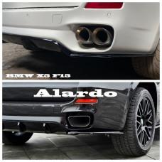 Боковые накладки (диффузоры, сплиттеры, элероны) ЗАДНЕГО бампера BMW X5 F15 черный АБС-пластик ПОД ПОКРАСКУ