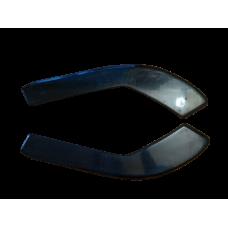 Боковые накладки (диффузоры, сплиттеры, элероны) ПЕРЕДНЕГО бампера Honda Accord 7 Type S АБС-пластик