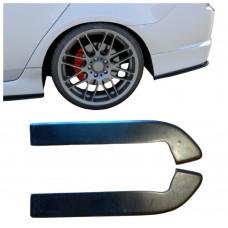 Боковые накладки (диффузоры, сплиттеры, элероны) ЗАДНЕГО бампера Honda Accord 7 Type S АБС-пластик