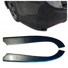 Боковые накладки (диффузоры, сплиттеры, элероны) ЗАДНЕГО бампера Honda Accord 8 АБС-пластик
