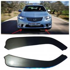 Боковые накладки (диффузоры, сплиттеры, элероны) ПЕРЕДНЕГО бампера Honda Accord 8 АБС-пластик