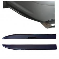 Боковые накладки (диффузоры, сплиттеры, элероны) ЗАДНЕГО бампера Mercedes-Benz W211 (Мерседес 211) АБС-пластик ПОД ПОКРАСКУ