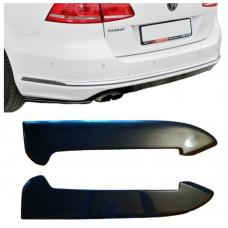 Боковые накладки (диффузоры, сплиттеры, элероны) ЗАДНЕГО бампера Volkswagen Passat B7 (Пассат Б7)  АБС-пластик ПОД ПОКРАСКУ