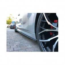 Лезвия на пороги, Накладки под пороги, Диффузоры BMW 3 F30 M-Performance стиль M3 АБС пластик черный под покраску (33031401)