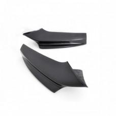 Боковые накладки клыки на М бампер элероны BMW 5 F10/F11 черный глянец (51011101)