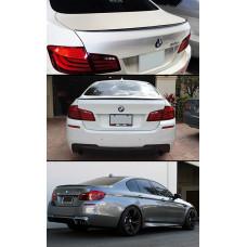 Карбоновый спойлер BMW 5 F10 стиль M5, Лип спойлер карбоновый БМВ 5 Ф10, Спойлер BMW 5 Series Карбон (51011306)