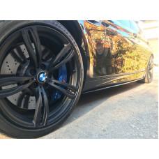 Лезвия на пороги, Накладки под пороги, Диффузоры BMW 5 F10 M-Performance стиль M5 АБС пластик черный под покраску (51011401)