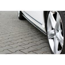 Лезвия под пороги для Volkswagen Passat B7 АБС пластик черный под покраску (77011401) Лезвия Листва Пасат Б7 Пассат