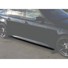 Лезвия под пороги BMW 5 E60 АБС пластик (56011401), Накладки под пороги БМВ 5 Е60