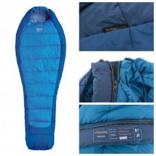 Демисезонный спальный мешок-кокон Pinguin Mistral 195 Blue Left Zip (PNG 213.195.Blue-L)