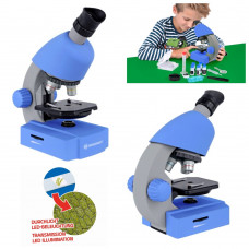 Микроскоп обучающий детский Bresser Junior 40x-640x Blue