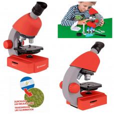 Микроскоп Bresser Junior 40x-640x Red с набором для опытов и адаптером для смартфона (8851300E8G000)
