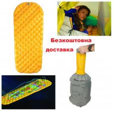 Надувной коврик Sea to Summit Air Sprung UltraLight Mat Yellow Extra Small 128х55х5 см (STS AMULXSAS)