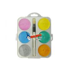Акварельные краски перламутровые MALINOS Maxi Perleffekt 6 цветов
